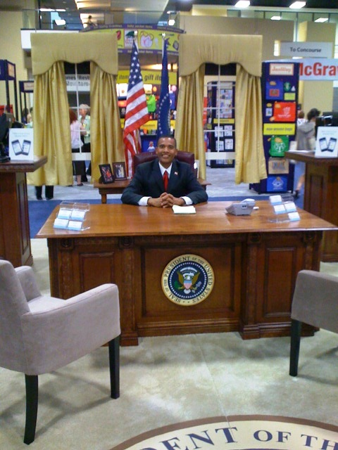 obama11 ALA 2010: Presidential Presence at Polaris Booth