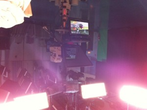 My view in the TV studio