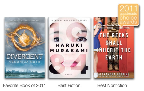 Goodreads Goodreads Choice Awards Announced; Divergent Voted Favorite Book of 2011