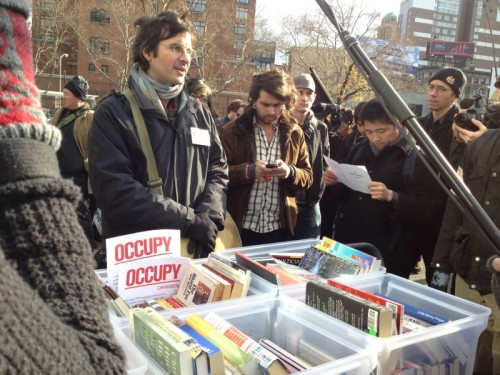 OWS 2 library 500x375 Read In at Occupy 2.0