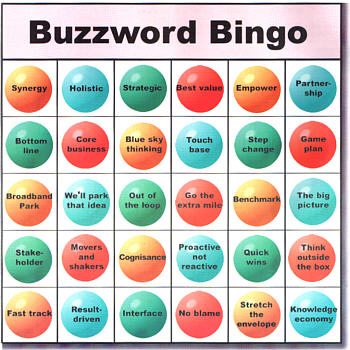 buzzword bingo The Most Annoying, Pretentious And Useless [Library] Jargon