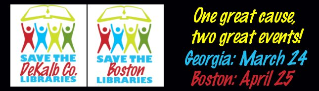 savethebostonlibraries Beantown Bids: Karin Slaughters Library Campaign Comes to Boston