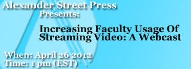 streaming video Increasing Faculty Usage of Streaming Video: A Webcast