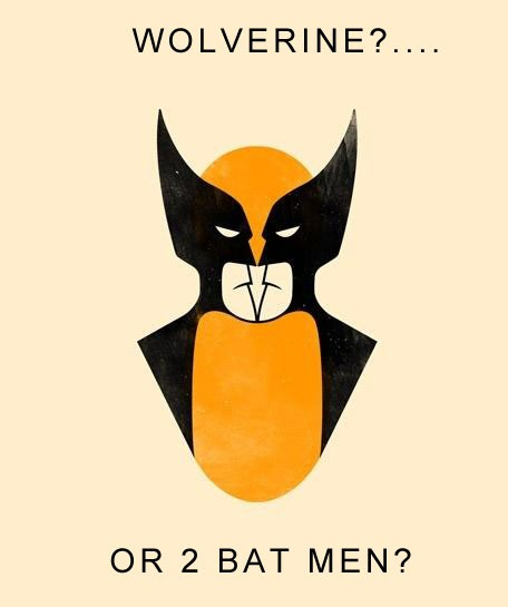 wolverine or two batmen  Geeky Friday: Saruman Returns, Batman vs. Wolverine, Fishing with Fonzie