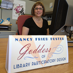 nancyfostergoddess This Picture (of a Library Goddess) is Worth a Thousand Words