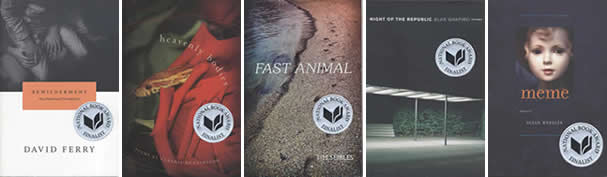 finalist jackets poetry National Book Award Finalists Announced Today