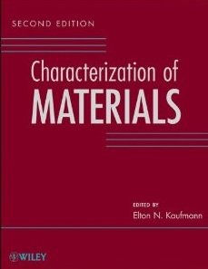 Characterization of materials Reference New Releases | November 1, 2012