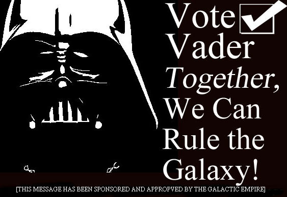 VoteVaderSide2 Geeky Friday: Give George Lucas the Nobel Prize