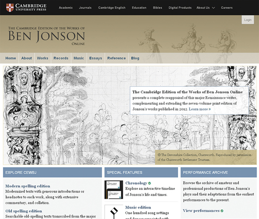 ljx140501webrefbonnie Three Resources, one Britannica Library; the Cambridge Edition of the Works of Ben Jonson Online | Reference eReviews