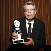 Stephen King and his new best friend. Photo credit Steven Speliotis