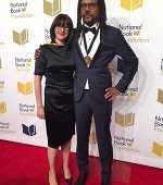 National Book Award Fiction winner with wife Julie Barer